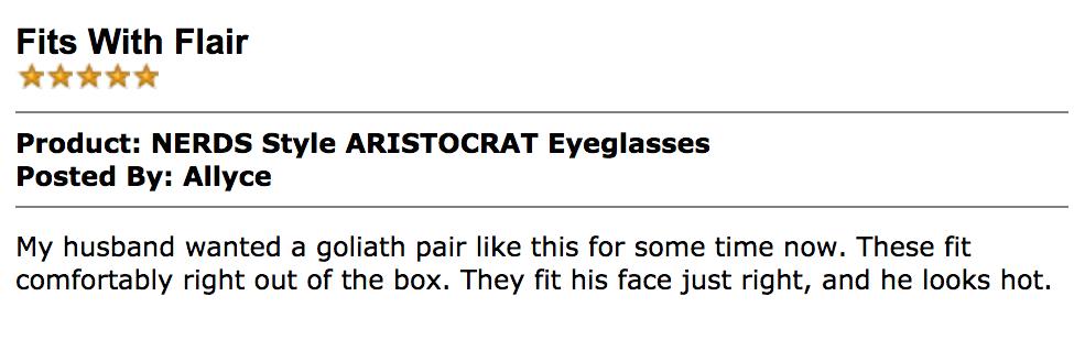 Review Geek Eyewear style Aristocrat